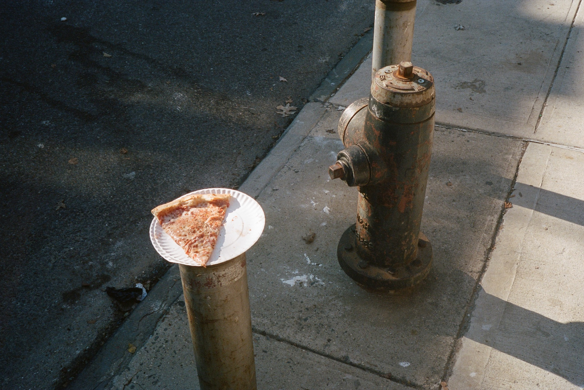 """pizza, fire hydrant"", 35mm colour film, Tunnel Vision (2020)"